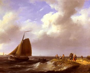 Johannes Hermanus Koekkoek : A fresh Breeze Off The Dutch Coast