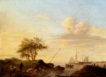 Johannes Hermanus Koekkoek : Coming Ashore