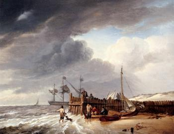 Johannes Hermanus Koekkoek : On The Beach