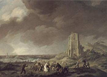 Johannes Hermanus Koekkoek : The Shipwreck