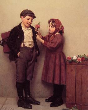 John George Brown : The button Hole Posy