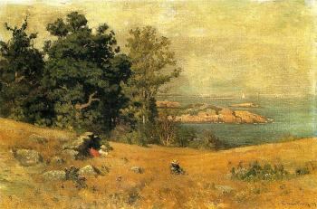 John Joseph Enneking : Berrying at the Seashore