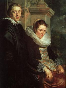 Jacob Jordaens : Portrait of a Young Married Couple