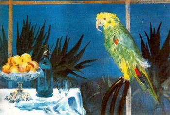 Jorge Apperley : Still Life with Parrot