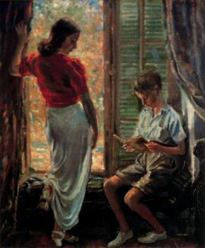 Jorge Apperley : The window (Enriqueta y Jorgito)