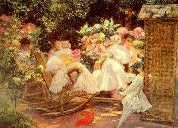 Jose Villegas Y Cordero : Ladies In A Garden