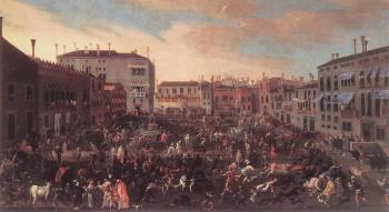 Joseph Heintz The Elder : the Younger Bull Hunt In Campo San Polo