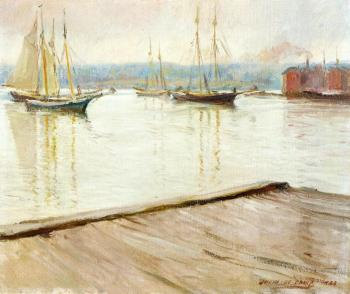 Joseph R DeCamp : At Gloucester aka Gloucester Harbor