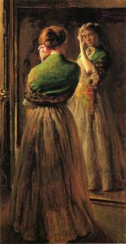Joseph R DeCamp : Girl with a Green Shawl