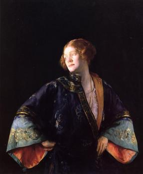 Joseph R DeCamp : The Blue Mandarin Coat aka The Blue Kimono