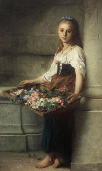 Adolphe Jourdan : The Flower Seller