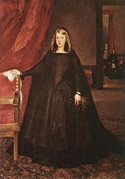 Juan Bautista Martinez Del Mazo : The Empress Dona Margarita De Austria In Mourning Dress
