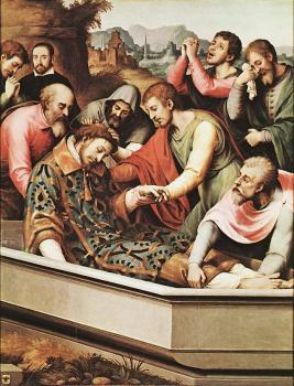 Juan De Juanes : The Entombment of St Stephen Martyr