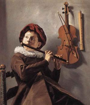Judith Leyster : Young Flute Player
