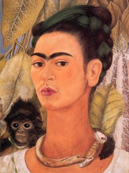 Frida Kahlo : Self-Portrait with Monkey