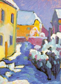 Wassily Kandinsky : Cemetery and Vicarage in Kochel