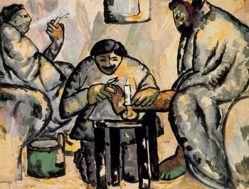 Kazimir Malevich : Pedicurist in the Baths