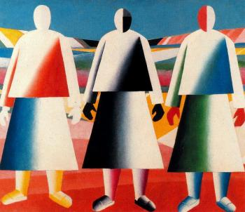 Kazimir Malevich : Girls in the Fields