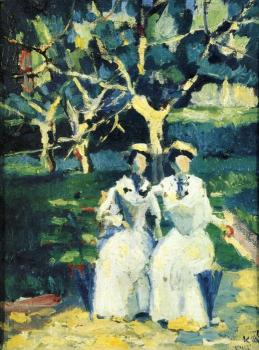 Kazimir Malevich : Two Women in a Garden