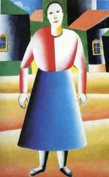 Kazimir Malevich : Girl in the Country
