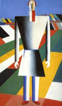 Kazimir Malevich : A Peasant at the farm