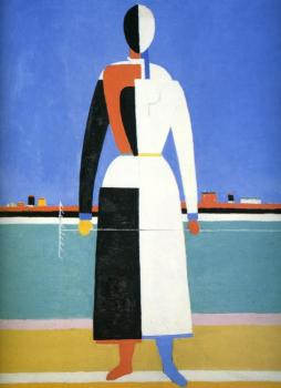 Kazimir Malevich : Woman with a Rake