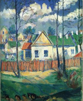 Kazimir Malevich : Spring Landscape with a Cottage