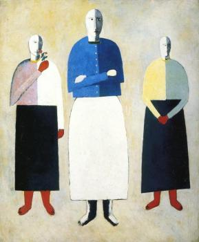 Kazimir Malevich : Three Girls