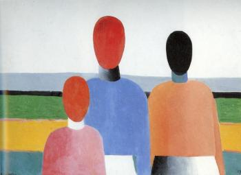 Kazimir Malevich : Three Woman Figures