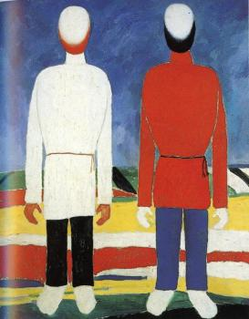Kazimir Malevich : Two Male Figures