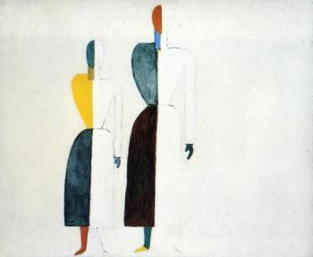 Kazimir Malevich : Two Figures