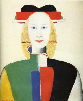 Kazimir Malevich : Girl with a Comb in her Hair