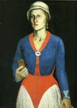 Kazimir Malevich : Portrait of the Artist Wife
