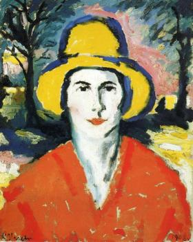 Kazimir Malevich : Portrait of Woman in Yellow Hat