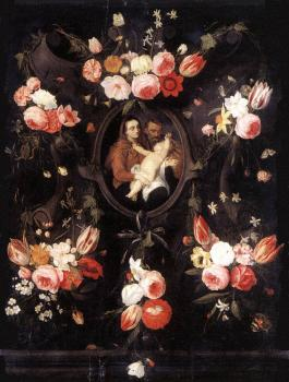 Jan Van Kessel : Holy Family