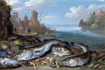 Harbour Scene with Fish
