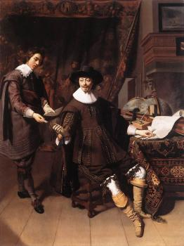 Thomas De Keyser : Constantijn Huygens and his Clerk