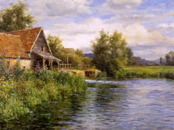 Louis Aston Knight : Cottage by the River