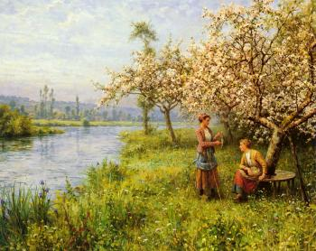 Louis Aston Knight : Country Women after Fishing on a Summer's Day