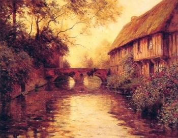 Louis Aston Knight : Houses by the River