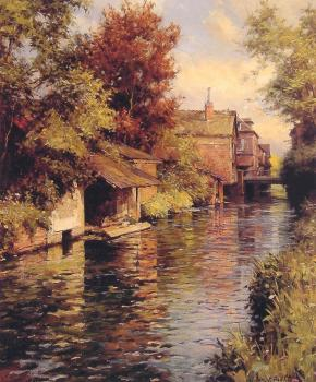 Louis Aston Knight : Sunny Afternoon on the Canal