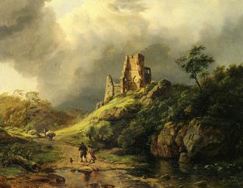 Barend Cornelis Koekkoek : The Approaching Storm