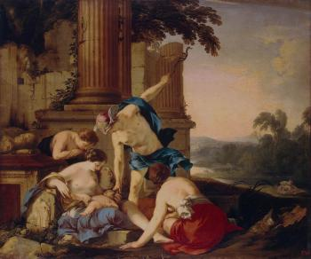 Laurent De La Hire : Mercury Takes Bacchus to be Brought up by Nymphs