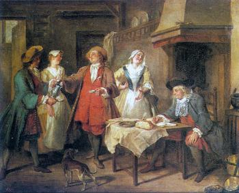 Nicolas Lancret : The Marriage Contract