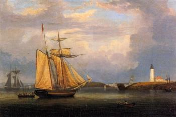 Fitz Hugh Lane : Drying Sails off Ten Pound Island