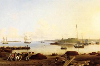 Fitz Hugh Lane : The Fort and Ten Pound Island, Gloucester, Massachusetts