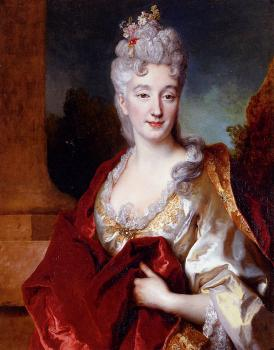Nicolas De Largilliere : Portrait Of A Lady