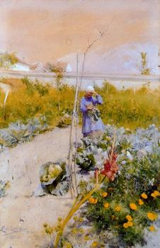 Carl Larsson : In the garden 2