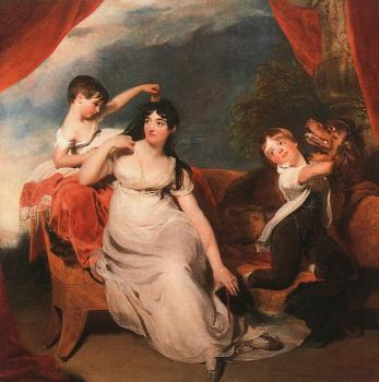 Sir Thomas Lawrence : Mrs Henry Baring and her Children