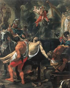 Charles Le Brun : Martyrdom of St John the Evangelist at Porta Latina